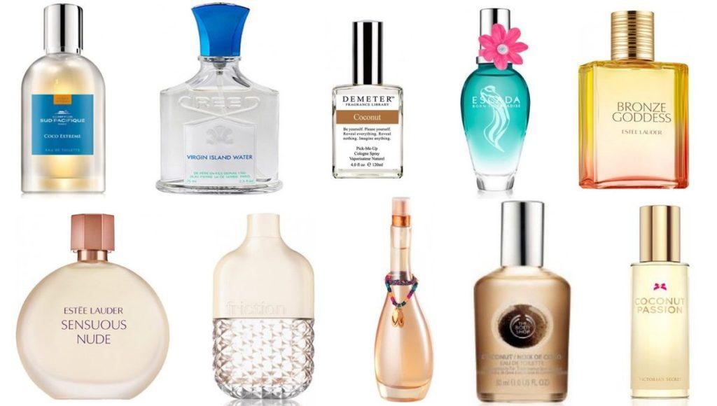 10 kokosových parfémů, ideálních naléto